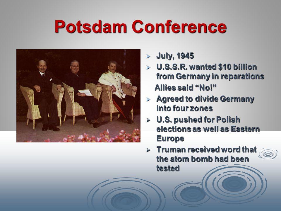 Potsdam Conference July, 1945