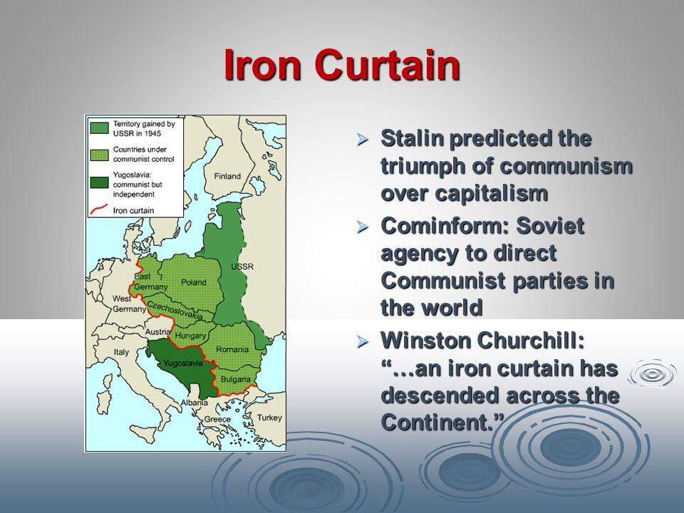 Iron Curtain Stalin predicted the triumph of communism over capitalism