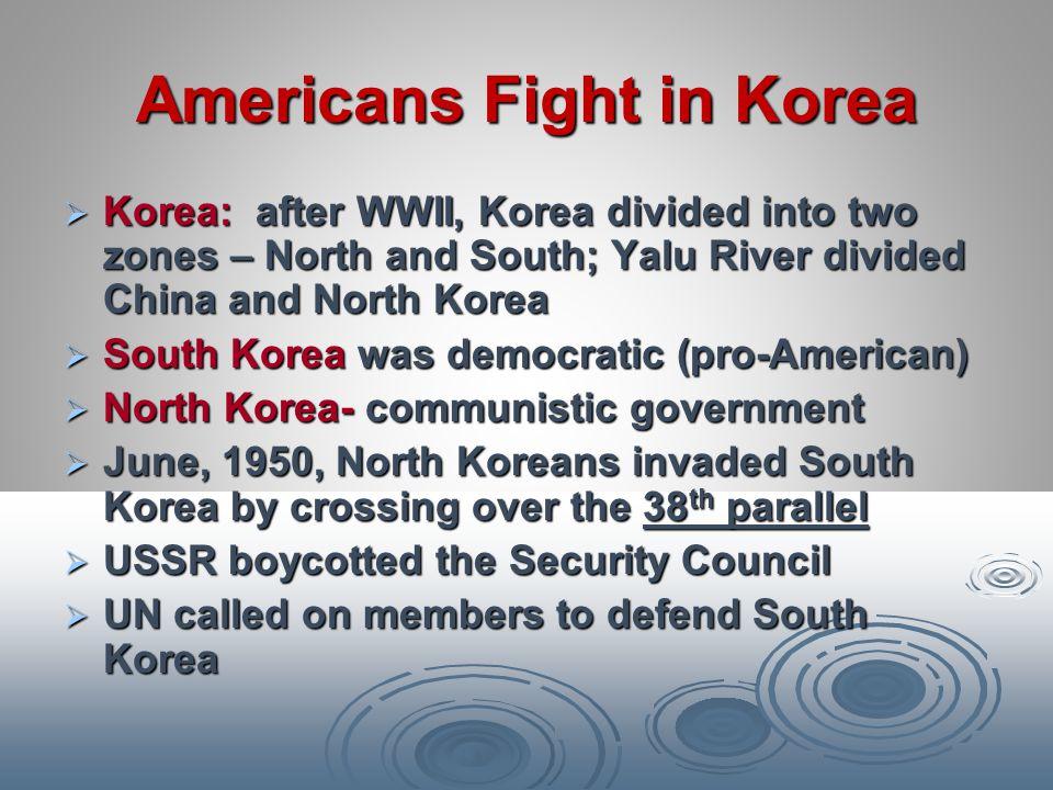 Americans Fight in Korea