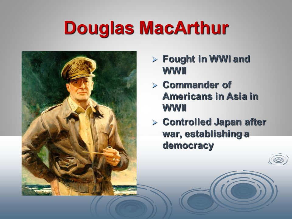 Douglas MacArthur Fought in WWI and WWII