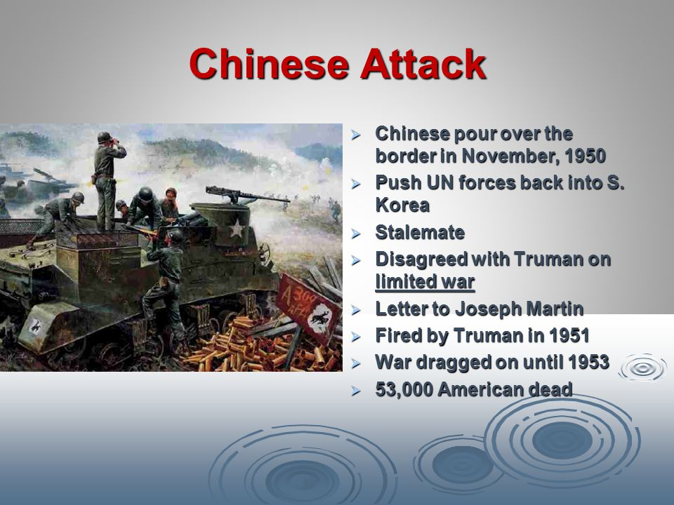 Chinese Attack Chinese pour over the border in November, 1950