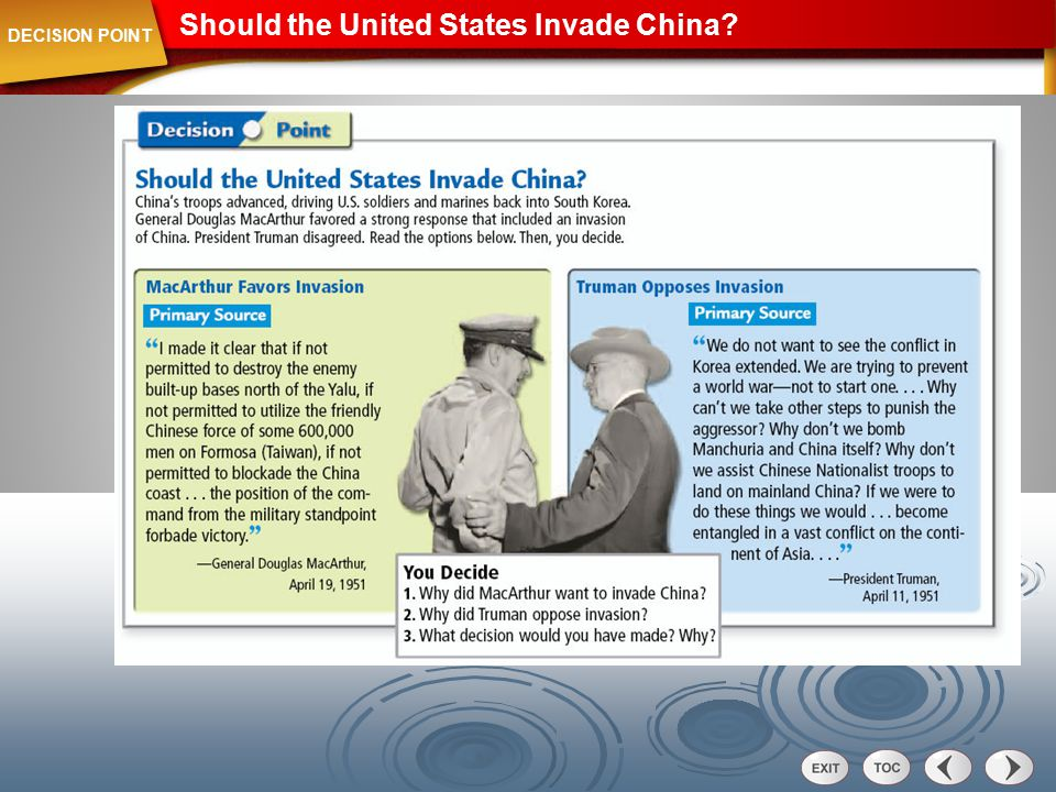 Should the United States Invade China