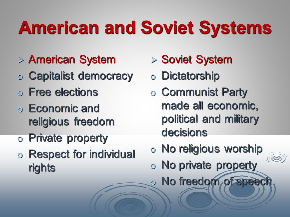 American and Soviet Systems