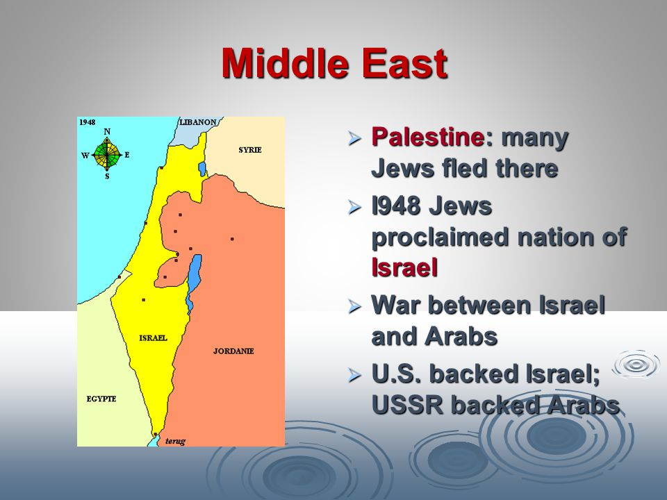 Middle East Palestine: many Jews fled there