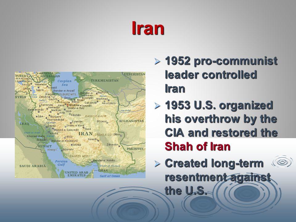 Iran 1952 pro-communist leader controlled Iran