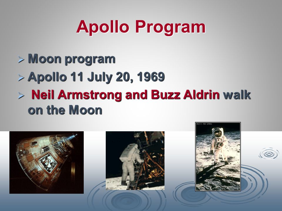 Apollo Program Moon program Apollo 11 July 20, 1969