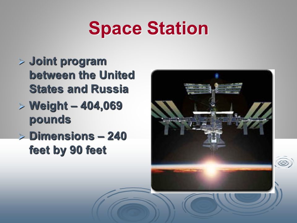 Space Station Joint program between the United States and Russia