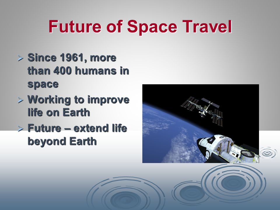 Future of Space Travel Since 1961, more than 400 humans in space