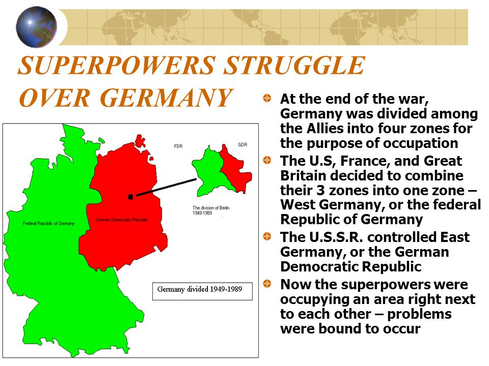 SUPERPOWERS STRUGGLE OVER GERMANY