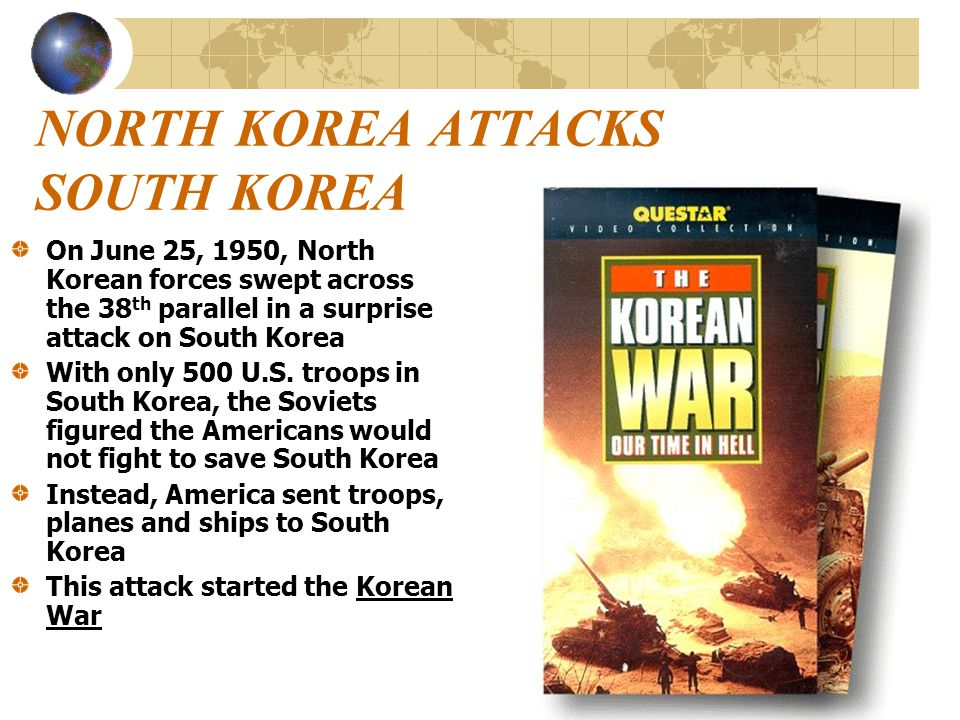 NORTH KOREA ATTACKS SOUTH KOREA