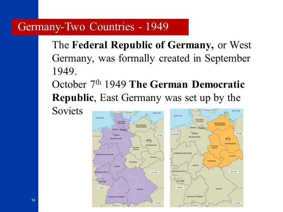 Germany-Two Countries - 1949