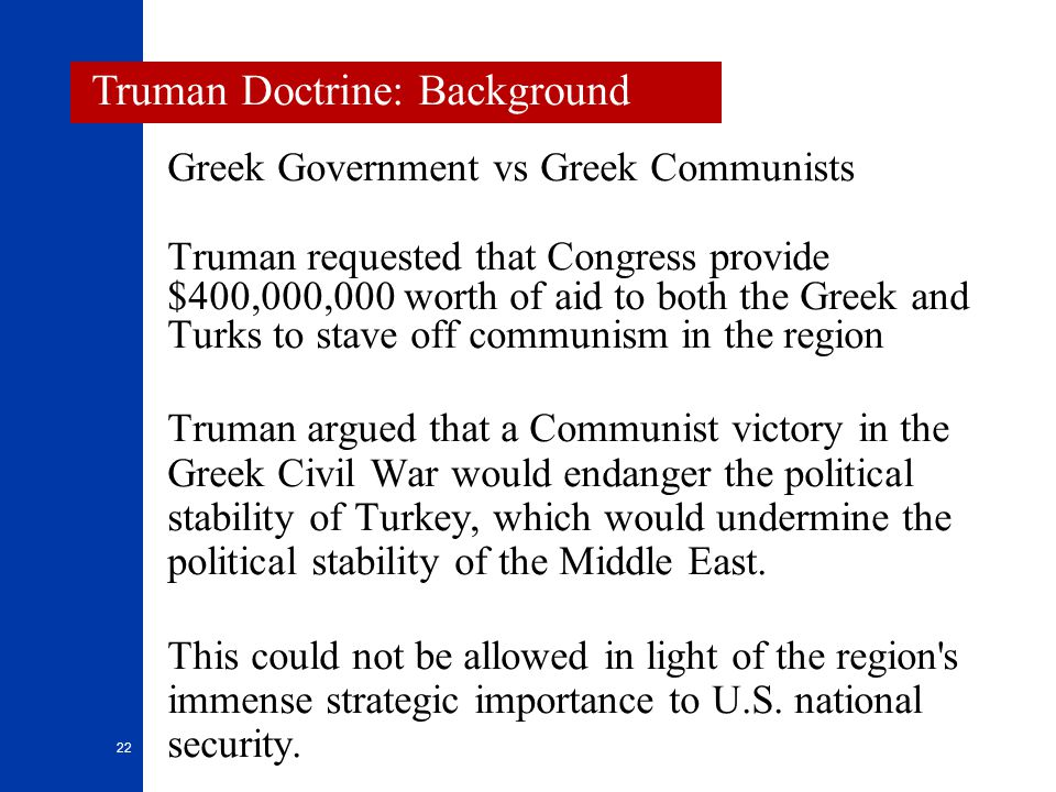 Truman Doctrine: Background