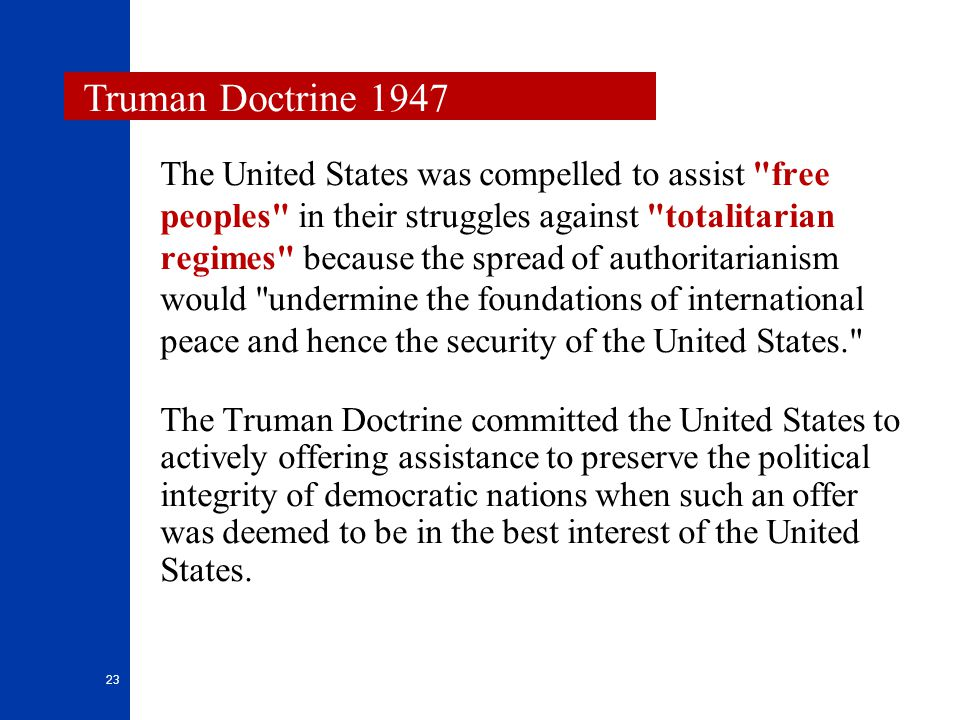 Truman Doctrine 1947