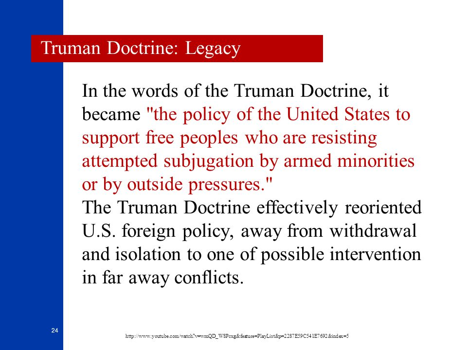Truman Doctrine: Legacy