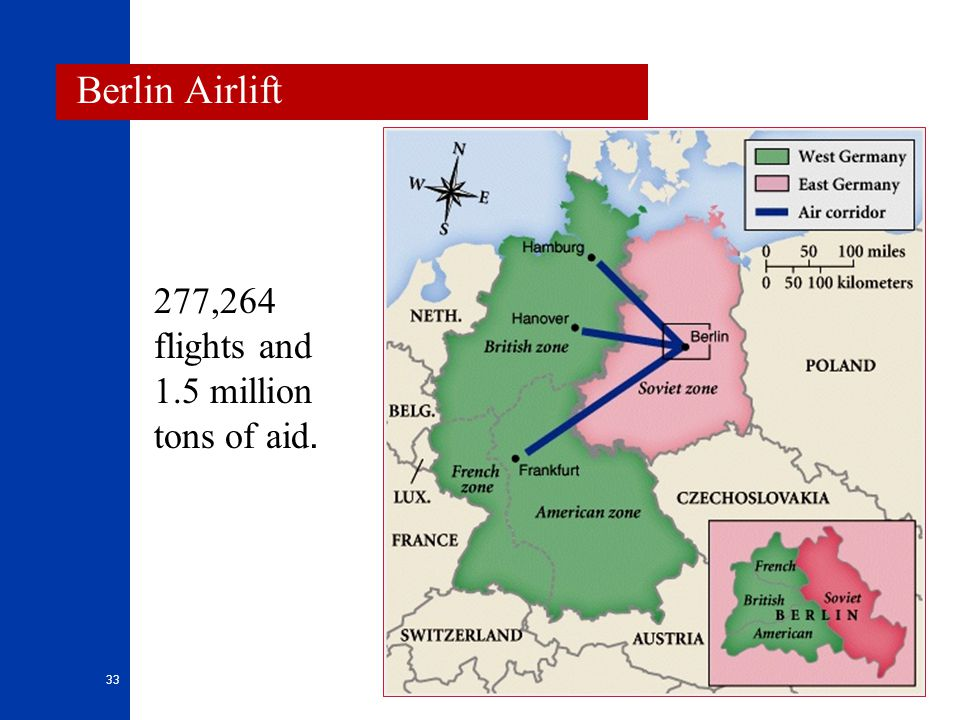 Berlin Airlift 277,264 flights and 1.5 million tons of aid.