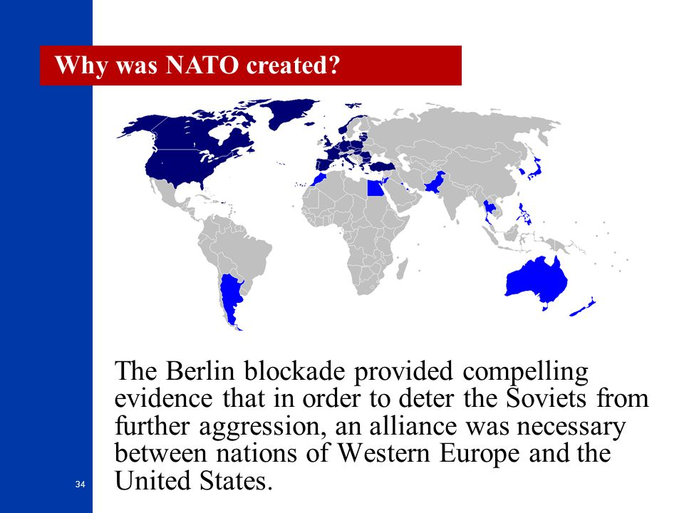 Why was NATO created