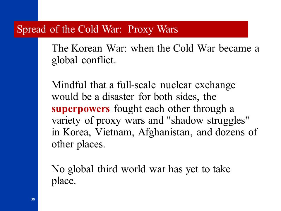 Spread of the Cold War: Proxy Wars