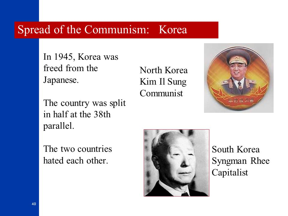 Spread of the Communism: Korea