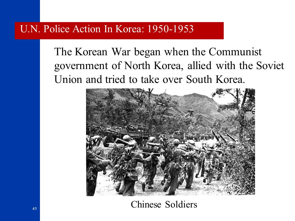 U.N. Police Action In Korea: 1950-1953