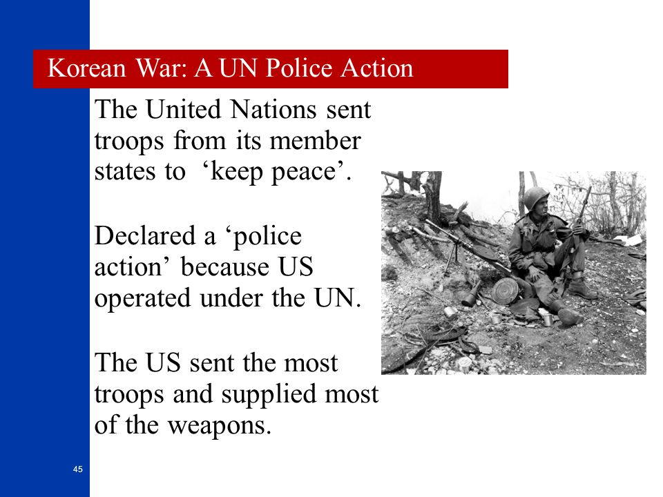The United Nations sent troops from its member states to 'keep peace'.