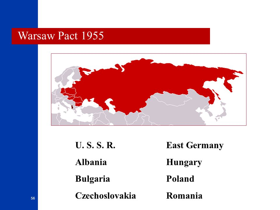 Warsaw Pact 1955 Warsaw Pact 1955 U. S. S. R. Albania Bulgaria
