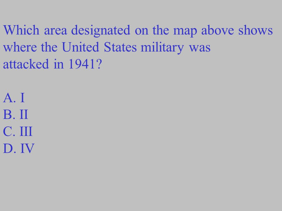 Which area designated on the map above shows where the United States military was
