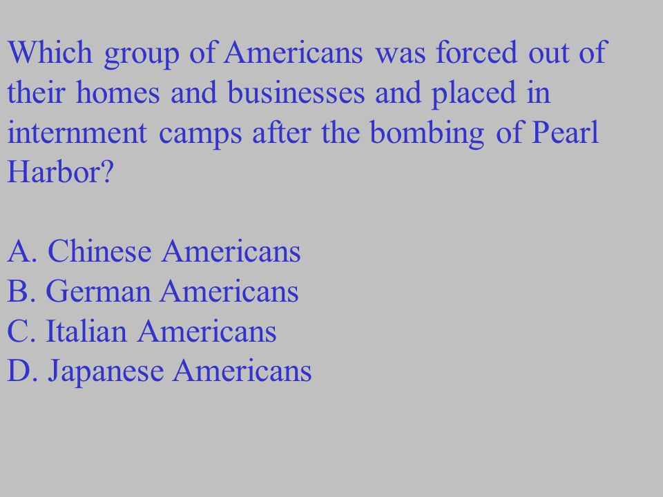 Which group of Americans was forced out of