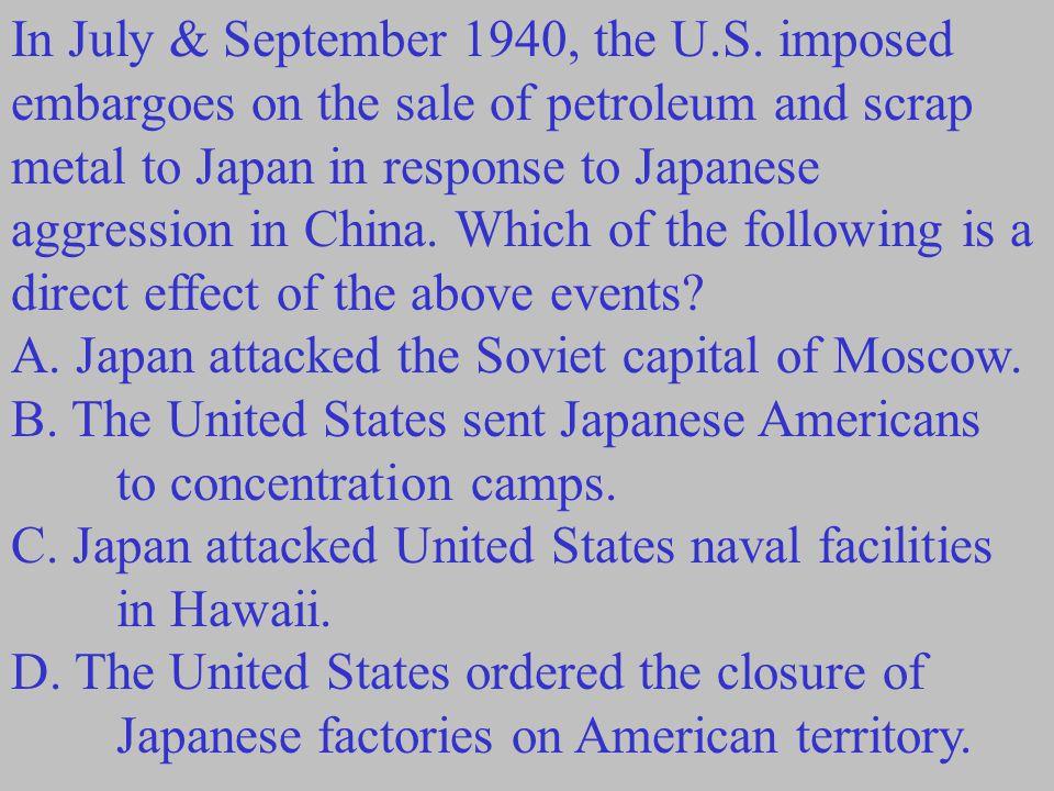 In July & September 1940, the U. S
