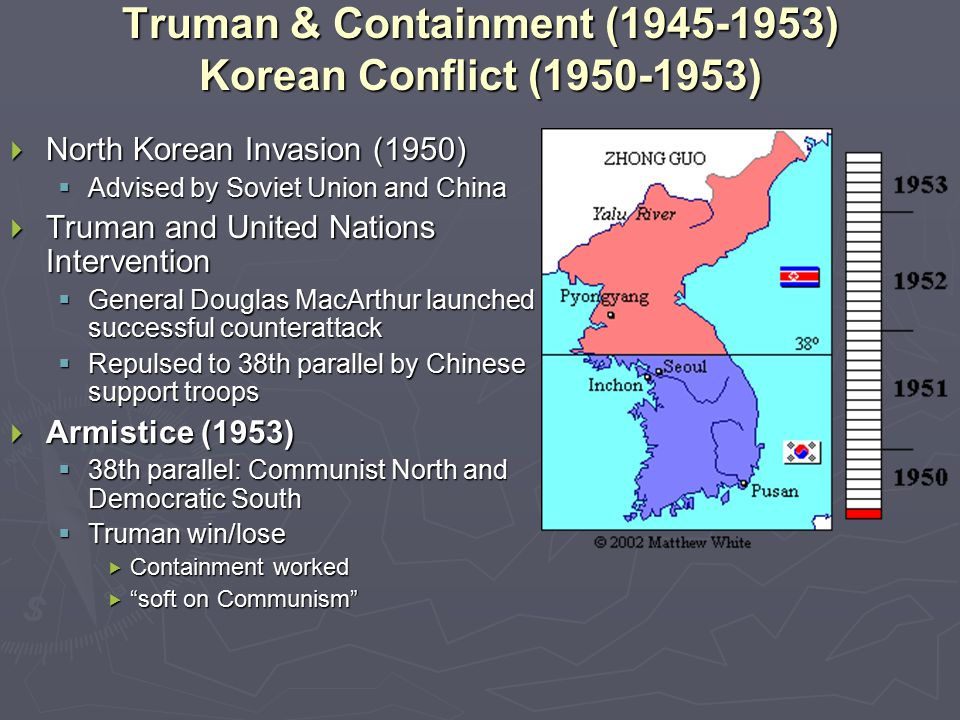 Truman & Containment (1945-1953) Korean Conflict (1950-1953)