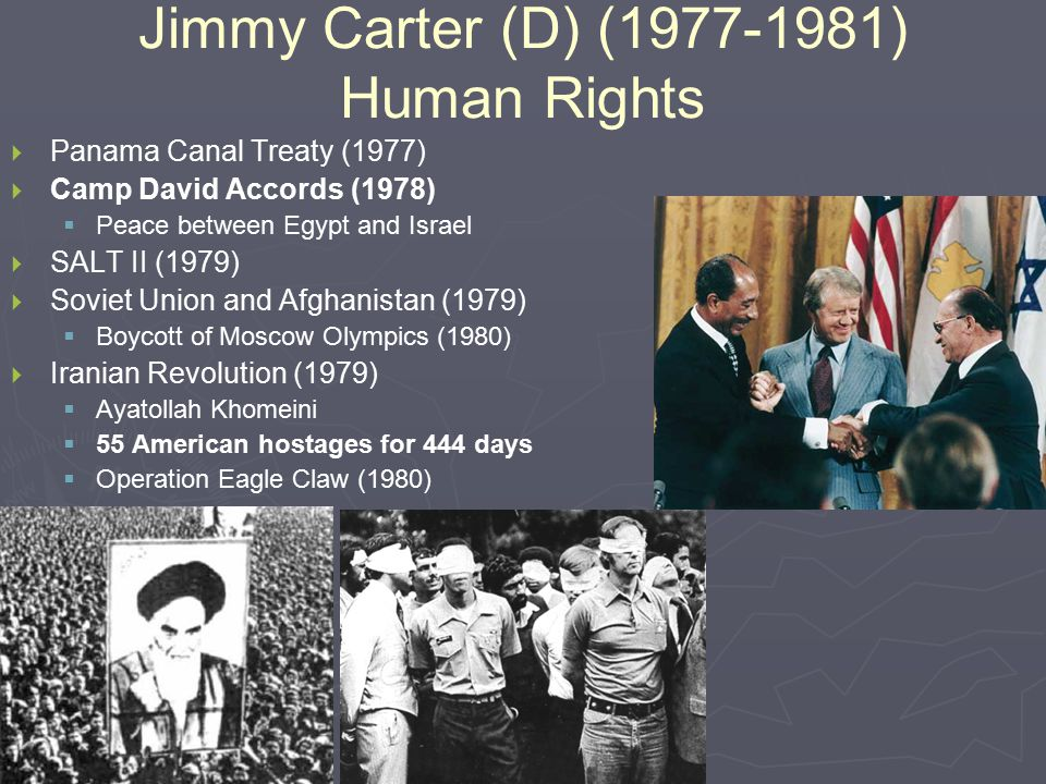 Jimmy Carter (D) (1977-1981) Human Rights