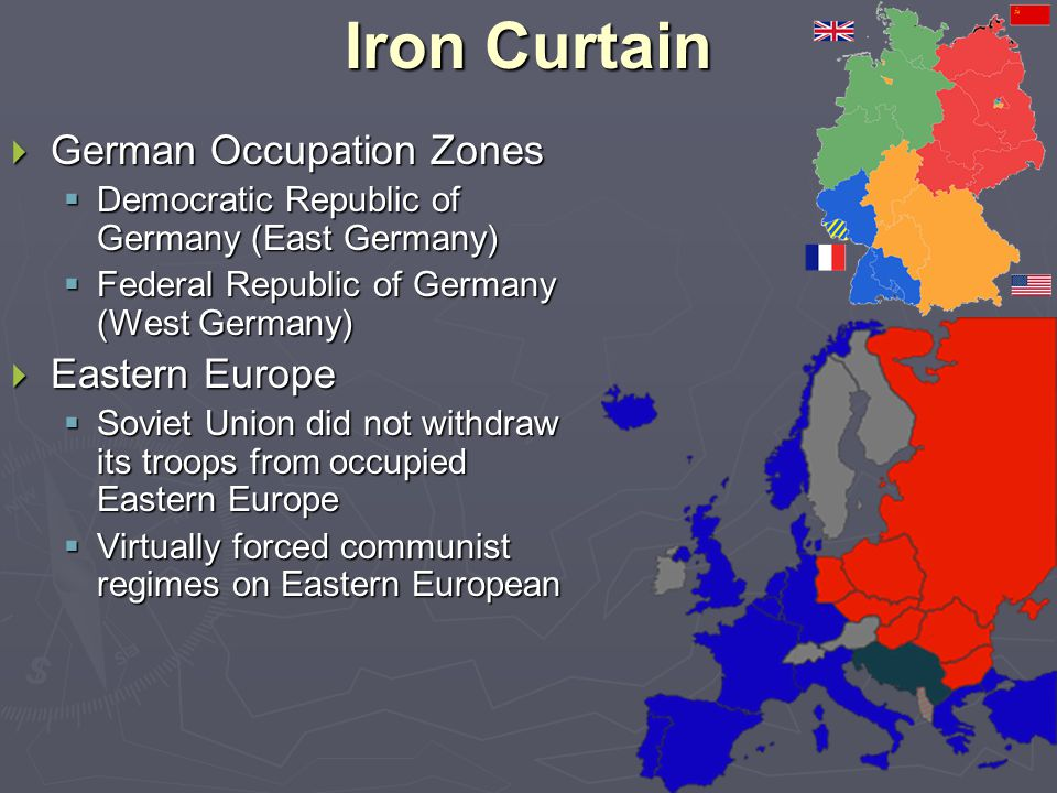 Iron Curtain German Occupation Zones Eastern Europe