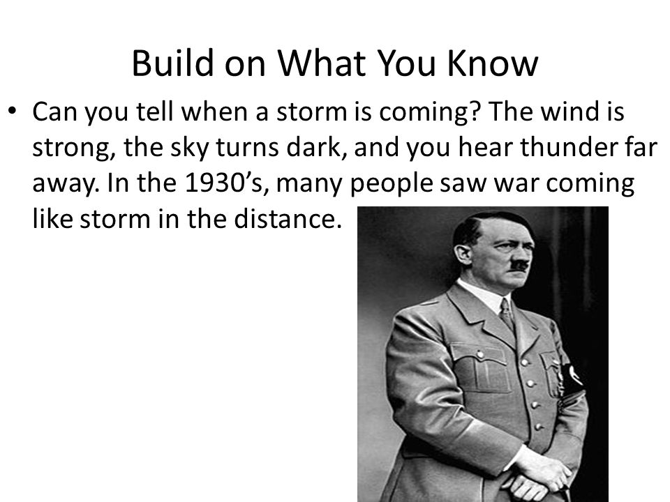 Build on What You Know