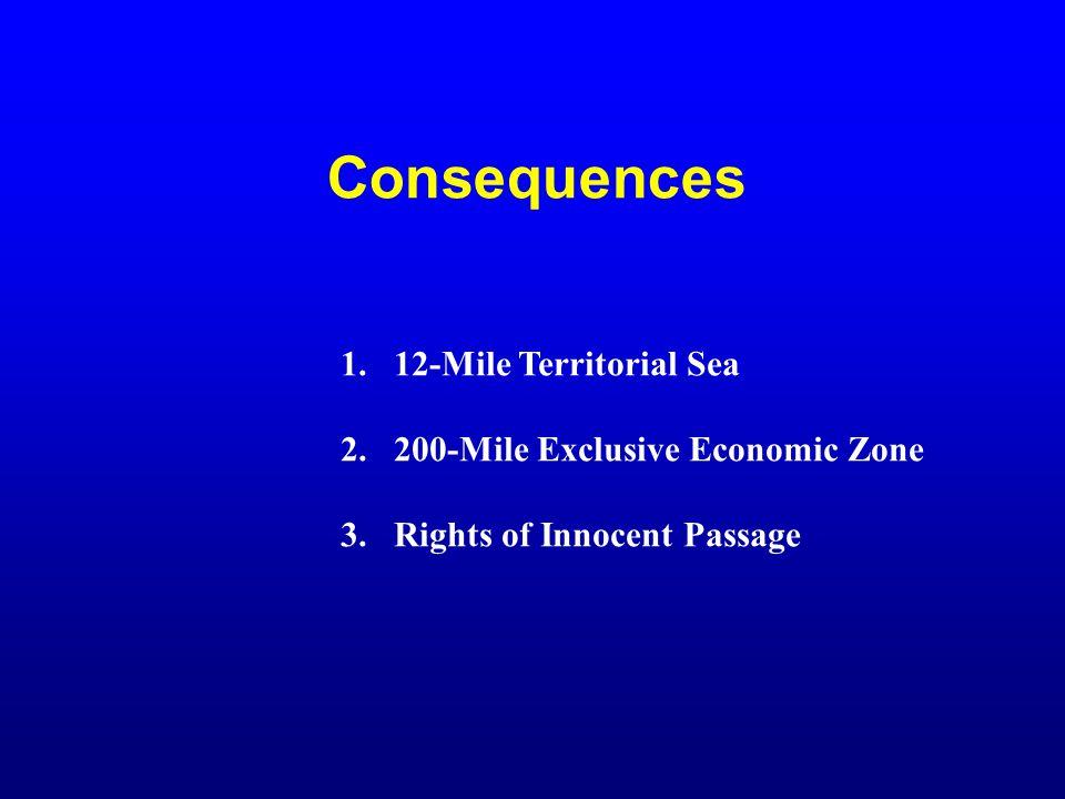Consequences 12-Mile Territorial Sea 200-Mile Exclusive Economic Zone