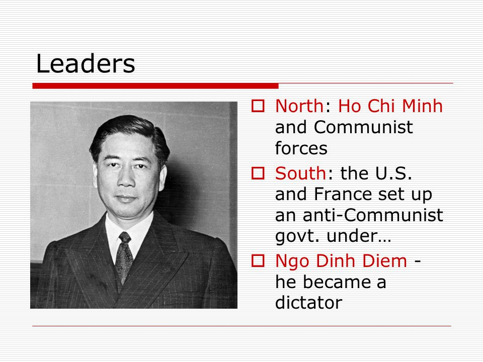 Leaders North: Ho Chi Minh and Communist forces