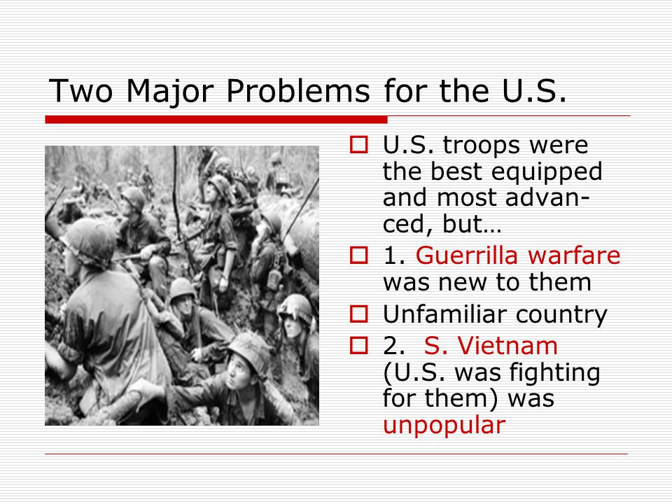 Two Major Problems for the U.S.