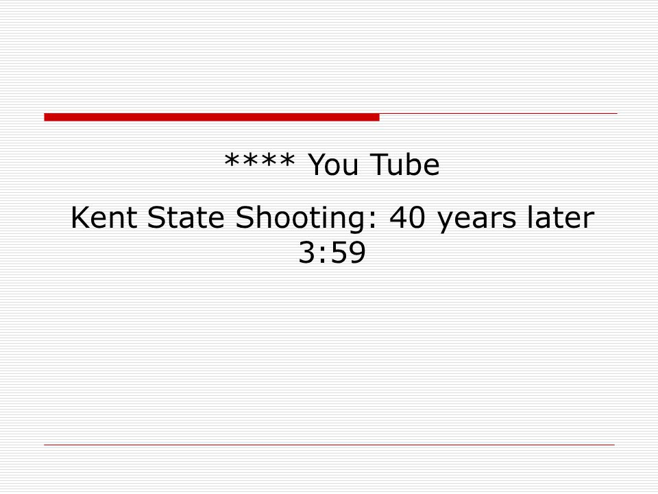 Kent State Shooting: 40 years later 3:59