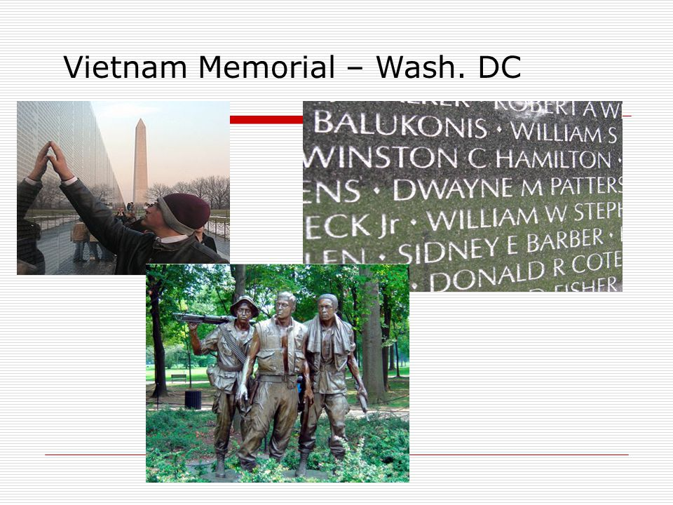 Vietnam Memorial – Wash. DC