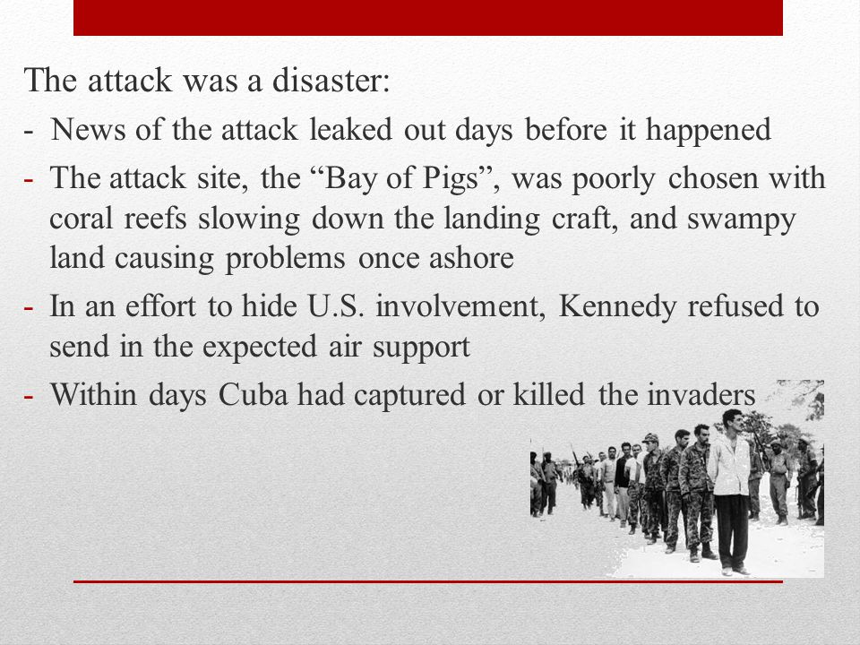 The attack was a disaster: