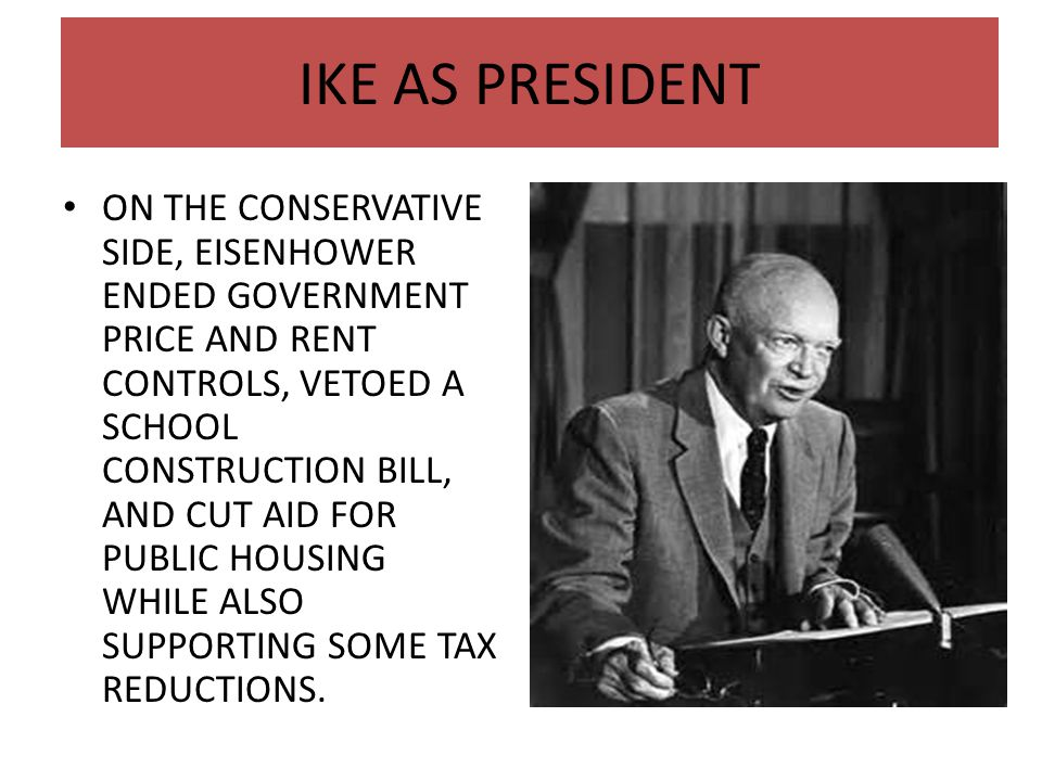 IKE AS PRESIDENT