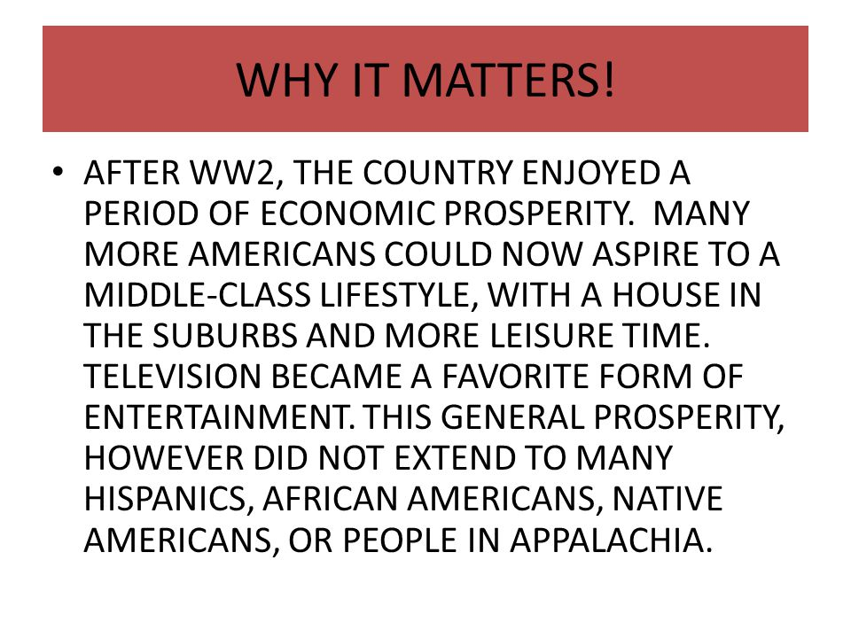 WHY IT MATTERS!