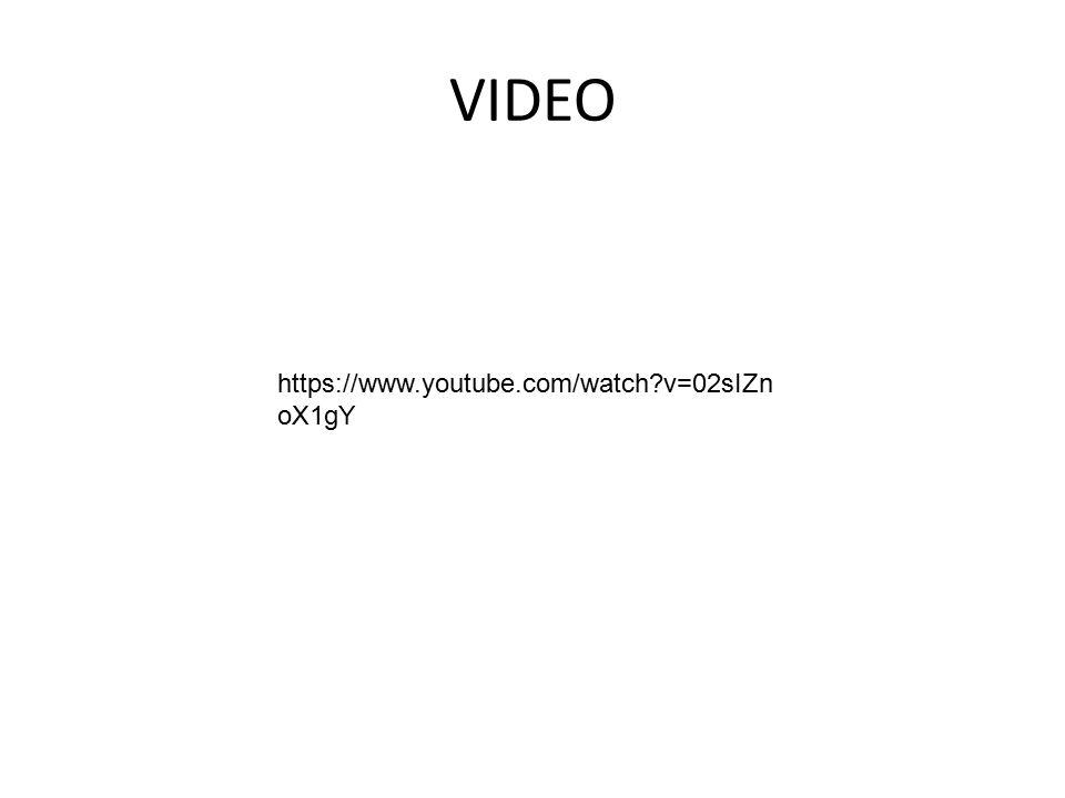 VIDEO https://www.youtube.com/watch v=02sIZnoX1gY
