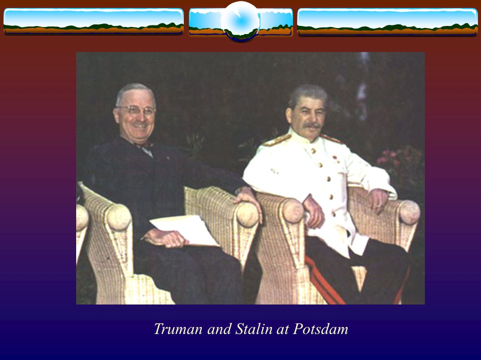 Truman and Stalin at Potsdam