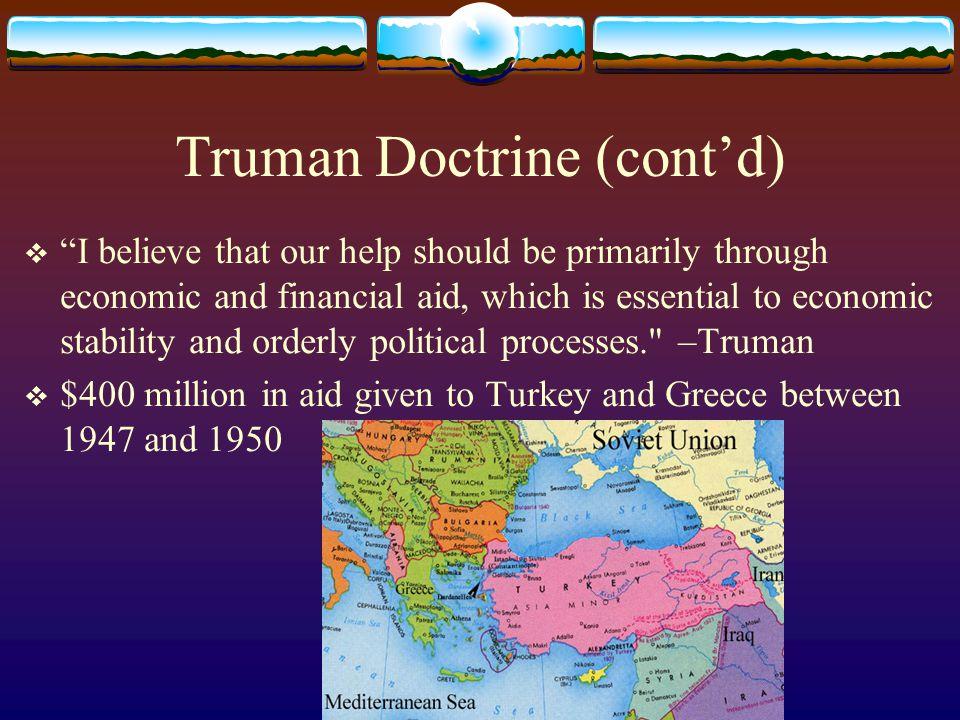 Truman Doctrine (cont'd)