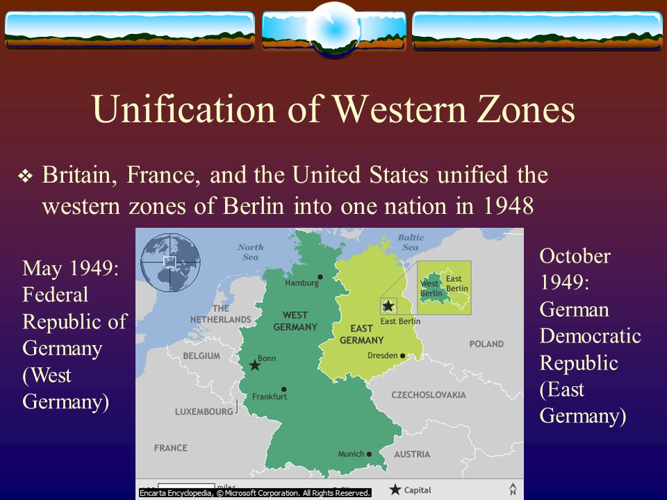 Unification of Western Zones