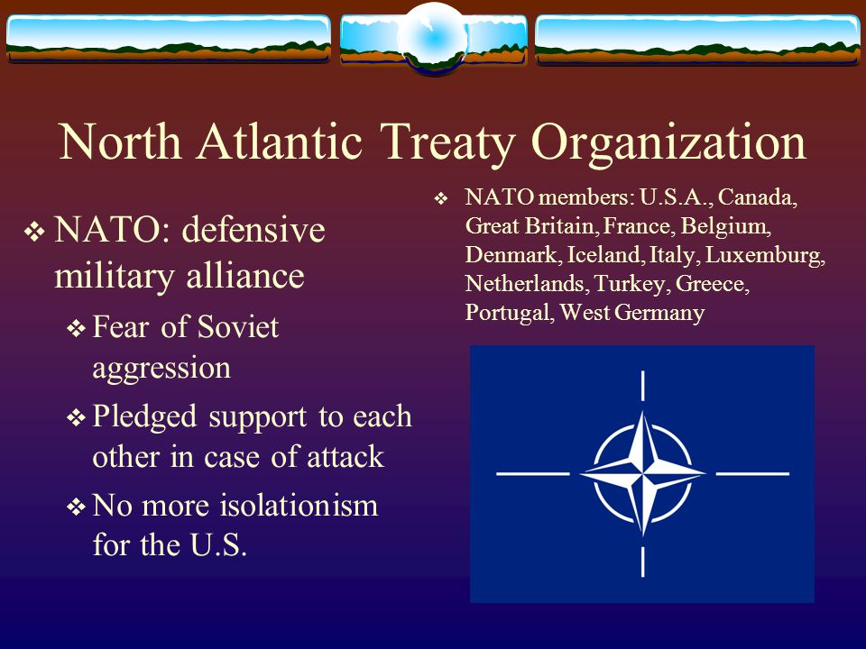a history of the north atlantic treaty organization in the cold war Get an answer for 'the north atlantic treaty organization (nato) and the warsaw pact were two important cold war organizations describe their purpose and function as.
