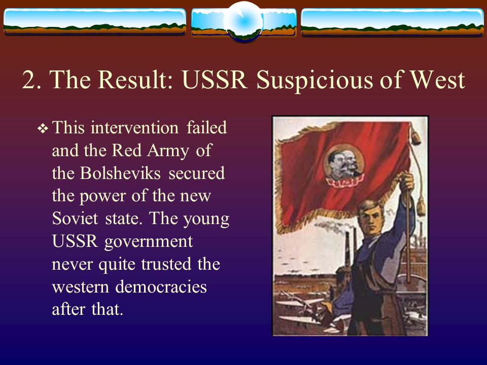 2. The Result: USSR Suspicious of West