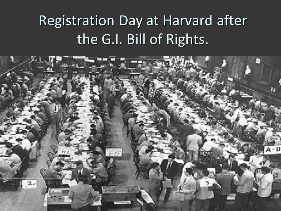 Registration Day at Harvard after the G.I. Bill of Rights.