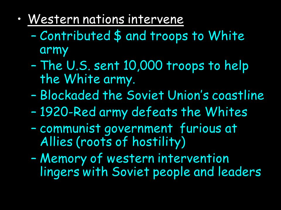 Western nations intervene