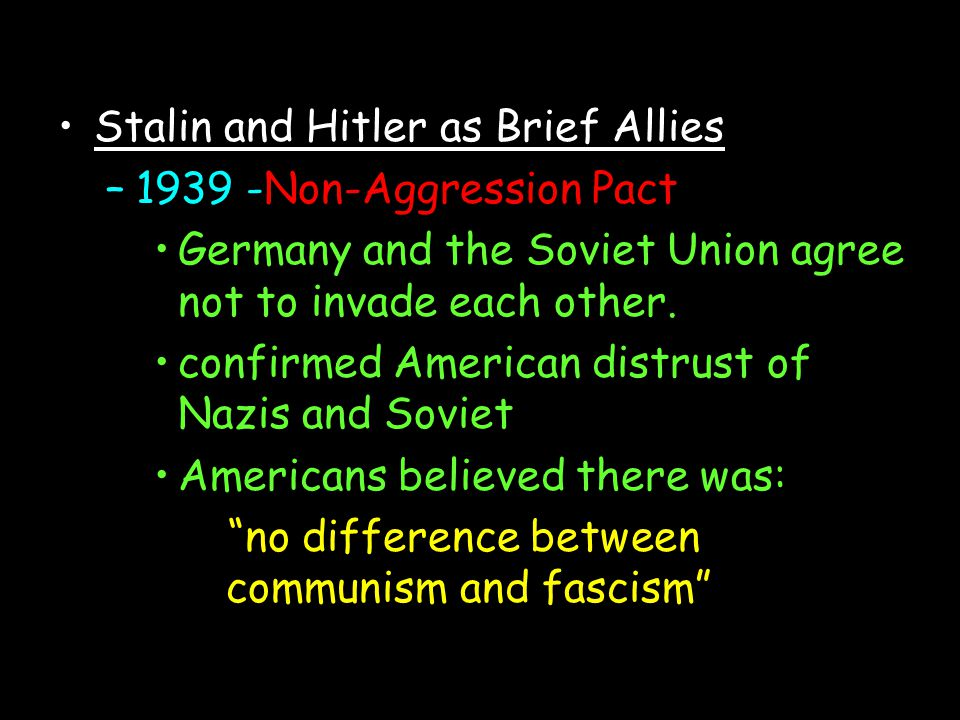Stalin and Hitler as Brief Allies