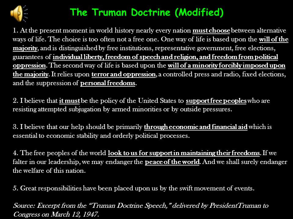 The Truman Doctrine (Modified)
